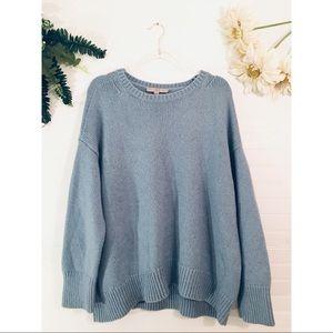 Loft Alpaca Wool Knit Baby Blue Sweater